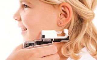 Советы о том, как проколоть уши ребенку